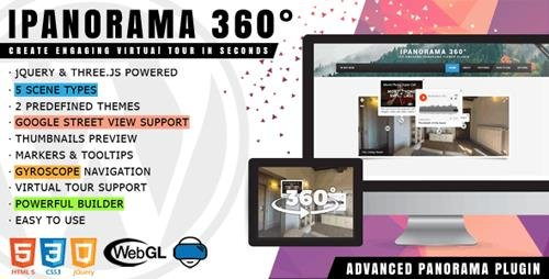CodeCanyon - iPanorama 360° v1.5.4 - Virtual Tour Builder for WordPress - 17028820