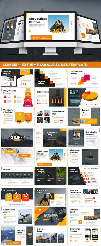 Climber - Extreme Google Slides PPTX Template