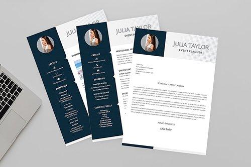 CV Black Resume Designer Indesign