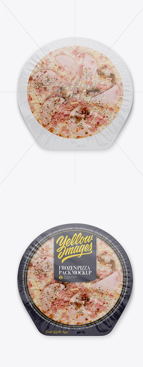 Frozen Pizza Pack Mockup - Top View 18857 TIF