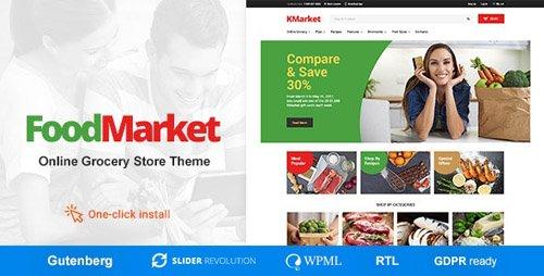 ThemeForest - Food Market v1.0.8 - Food Shop & Grocery Store WordPress Theme - 20429595