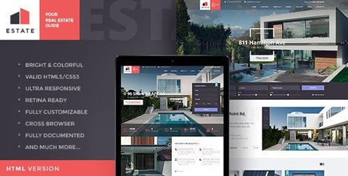 ThemeForest - Estate v1.2 - Property Sales & Rental Site Template - 18442626