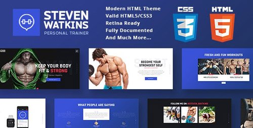 ThemeForest - Gym Trainer v1.0 - Personal Gym Trainer & Nutrition Coach Site Template - 19334980