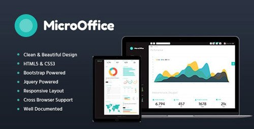 ThemeForest - Micro Office v1.2 - HTML Admin Template - 20020232