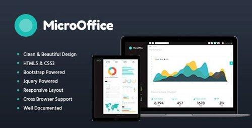 ThemeForest - Micro Office v1.2 - HTML Admin Template - 20020232