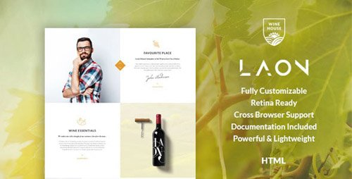 ThemeForest - Laon v1.1 - Wine House, Vineyard & Shop HTML Template - 20052497