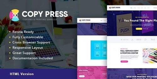 ThemeForest - CopyPress v1.1 - Type Design & Printing Services HTML Template - 20269402