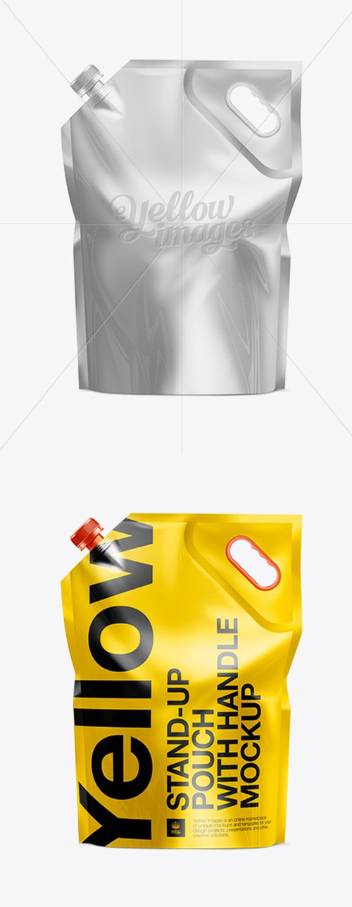 Stand Up Pouch W/ Spout And Handle Mock-up 11112 TIF