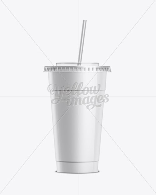 Soda Cup With Straw 10183 TIF