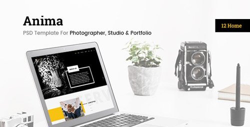 ThemeForest - Enima v1.0 - Photographer, Studio & Portfolio PSD Template - 24102692