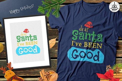 Funny Christmas Santa Print T-Shirt Xmas Retro Tee Template