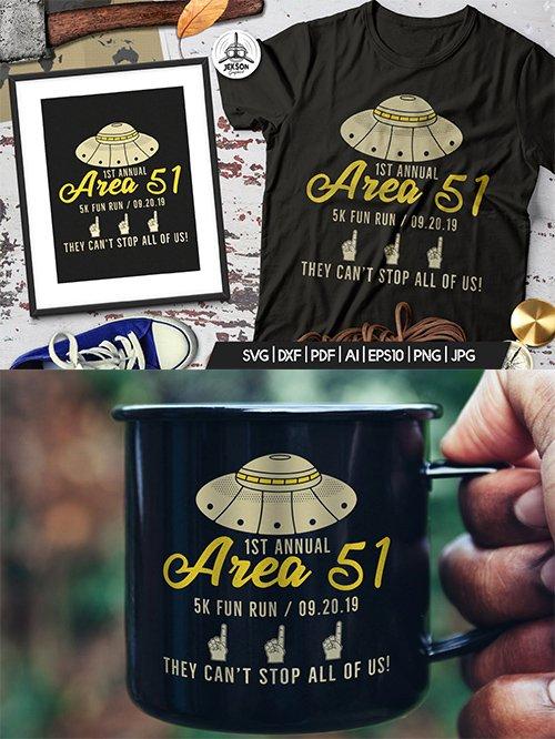 Storm Area 51 Funny Print T-Shirt, UFO Aliens Logo Template