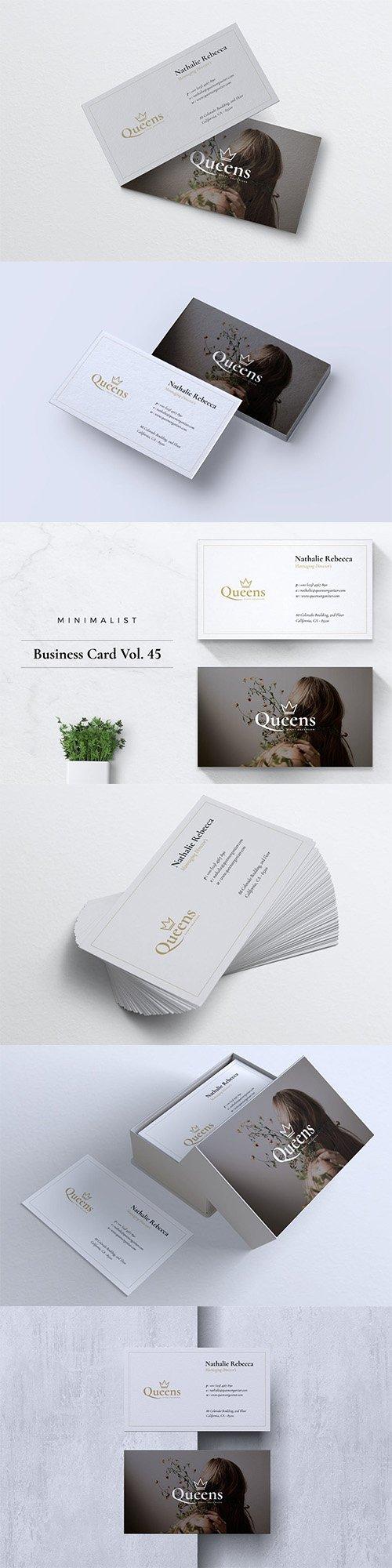 Minimalist Business Card Vol. 45 PSD