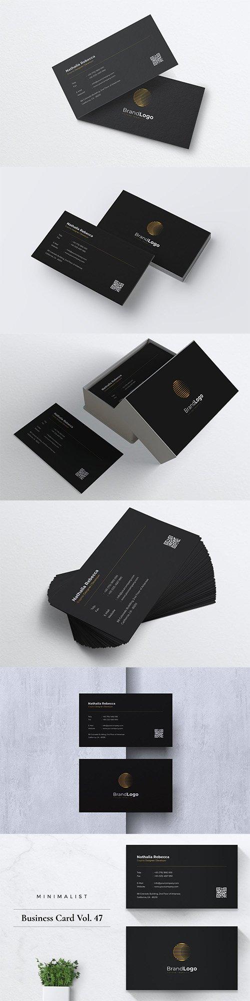 Minimalist Business Card Vol. 47 PSD