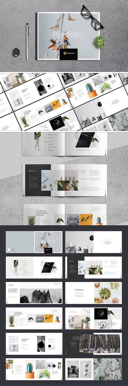 Portfolio Brochure Layout with Orange Accents 244827456 INDT