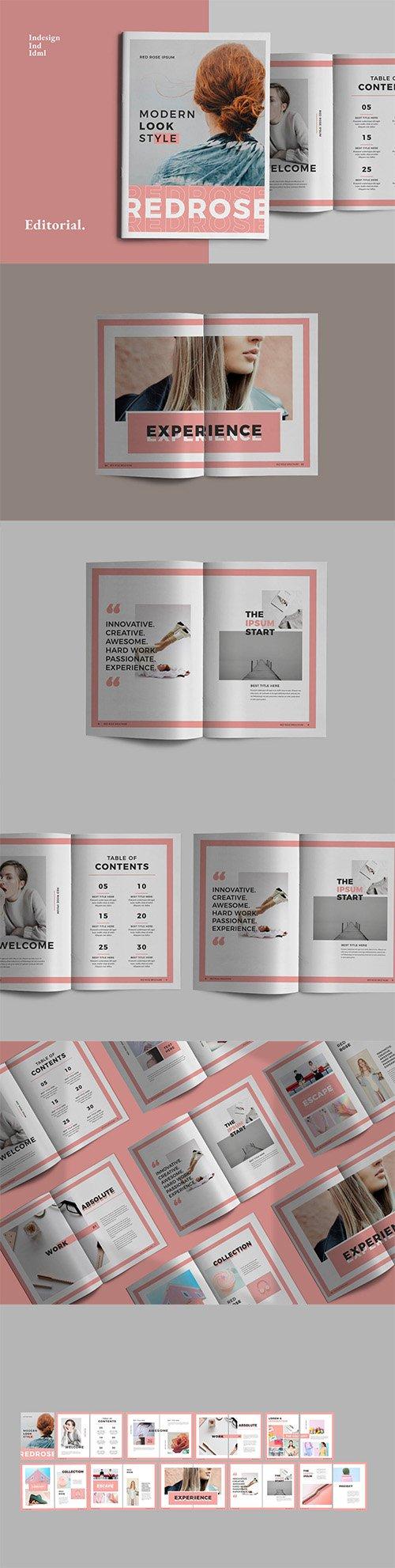 Red Pastel Indesign Brochure