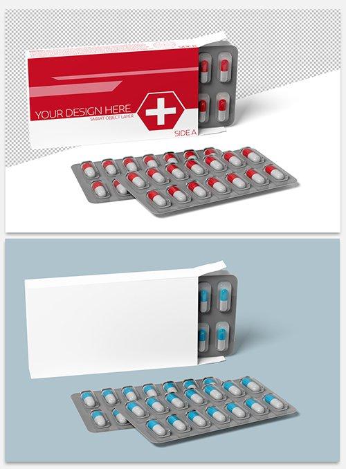 Pharmaceutical Packaging Mockup on White 244102556 PSDT