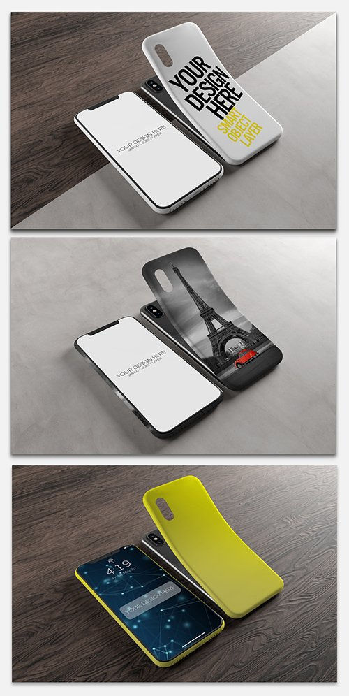 Smartphone Screen and Case Mockup 244102095 PSDT