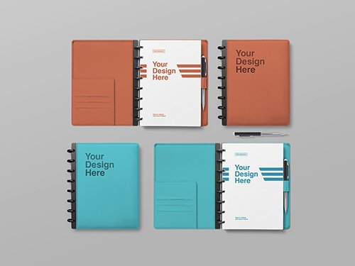 Open and Closed Notebooks Mockup 245223083 PSDT