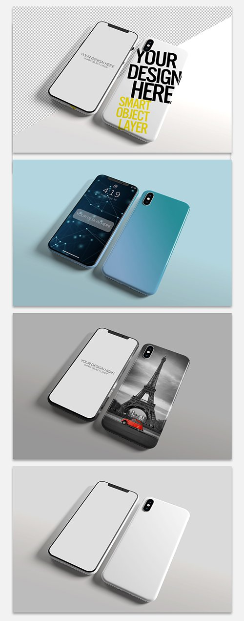 Smartphone Screen and Case Mockup 244099834 PSDT