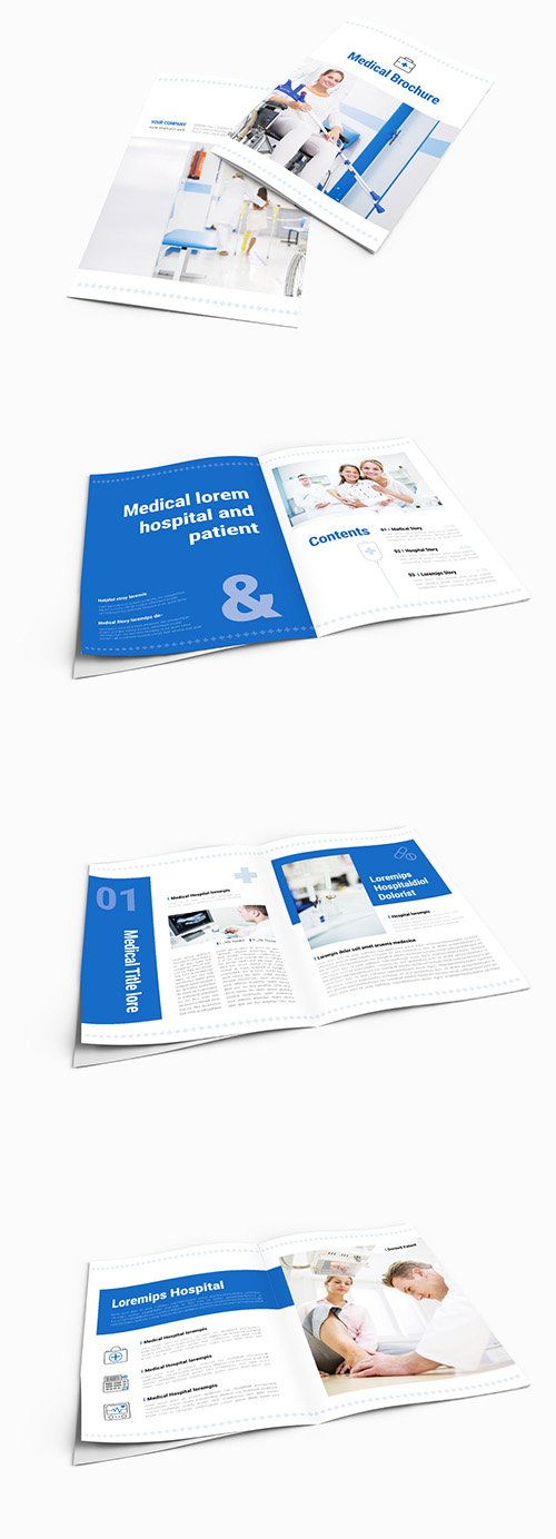 INDT Brochure Layout with Blue Accents 242382560