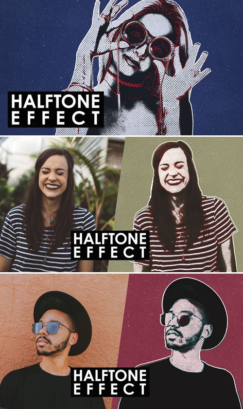 Stunning Halftone Effects Patterns for Photoshop