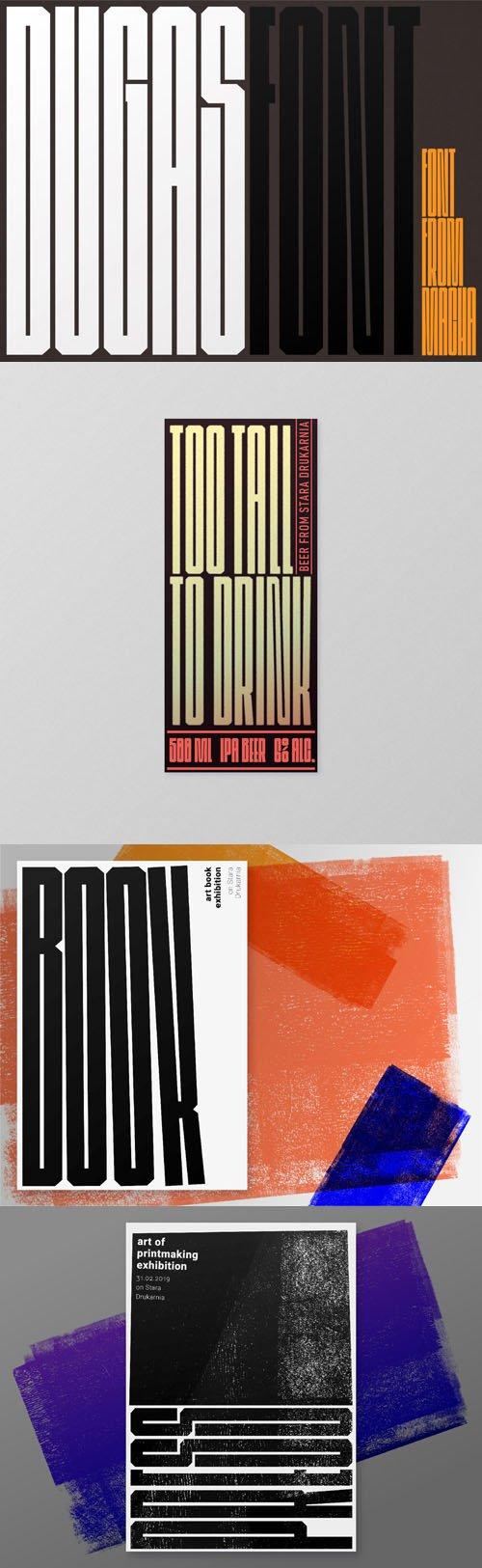 DUGAS - Condensed & Minimalistic Font