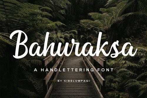 Bahuraksa - A handlettering Font