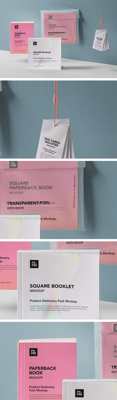 Product Stationary Pack PSD Mockup