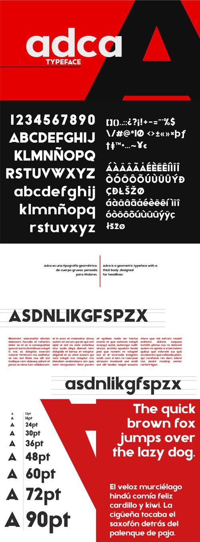 adca - Geometric Font