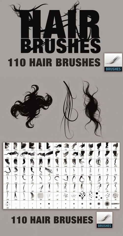 Hair Brushes Collection for Photoshop