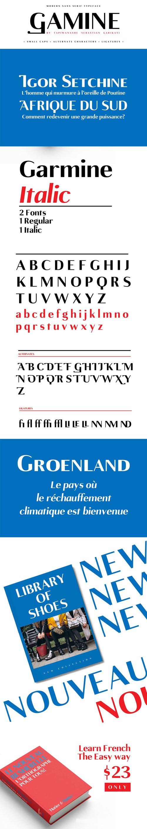 Gamine Modern Sans Serif Typeface