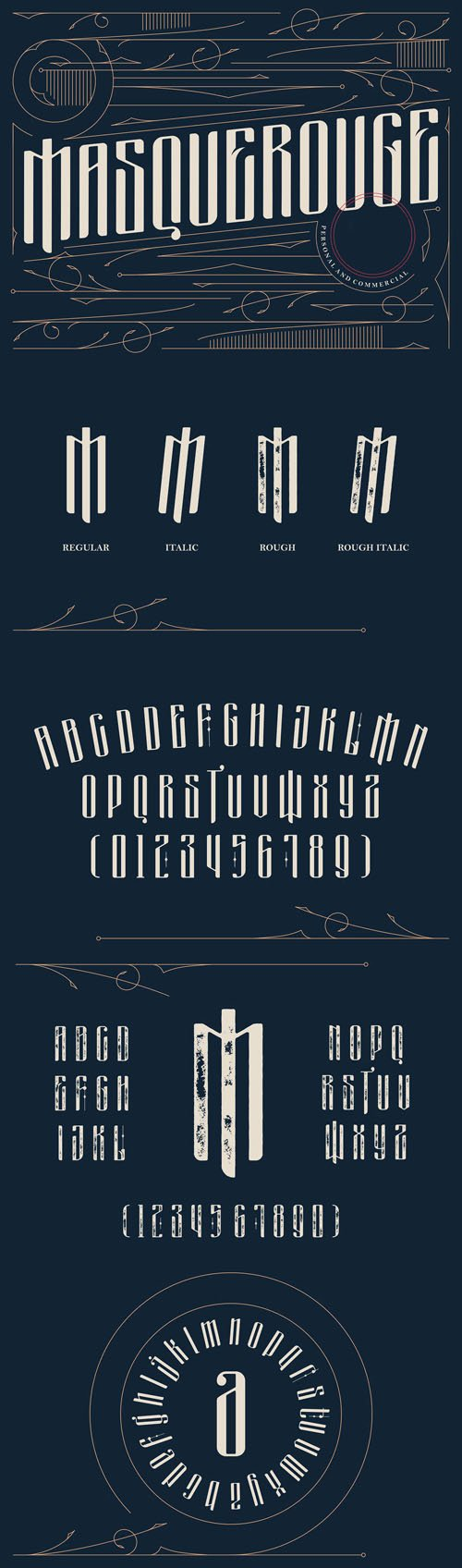Masquerouge Font Family
