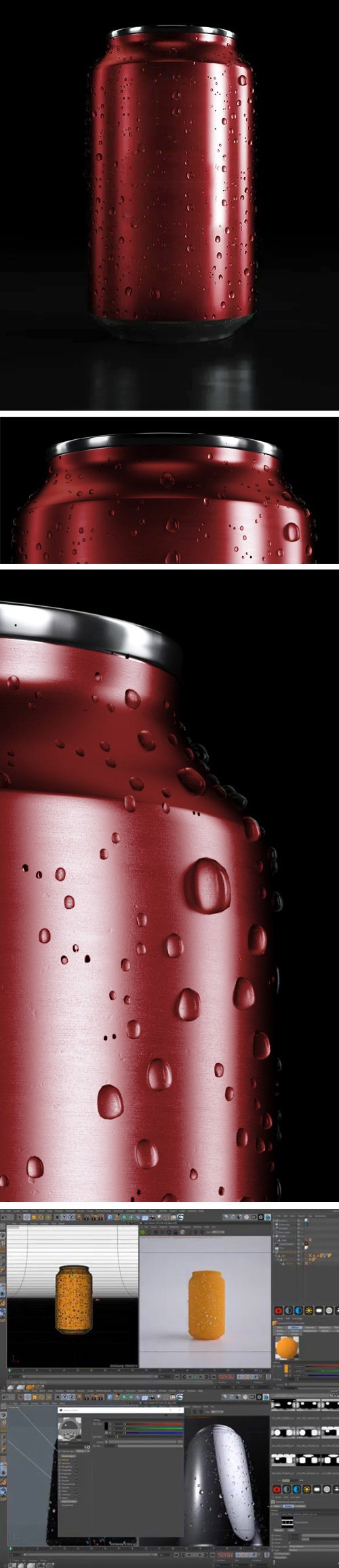 Red Soda Can PSD Mockup in 5K - Made with Cinema 4D !