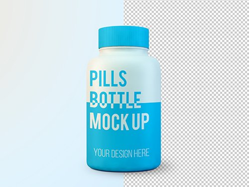 Large Pill Bottle Mockup 246690456 PSDT