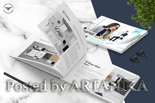 Graphic Designer Portfolio Brochure Template