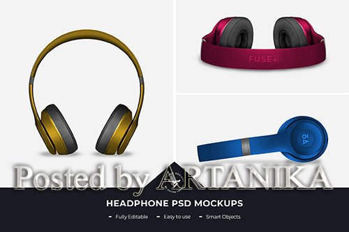 Headphones PSD Mockup