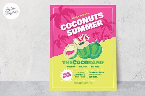 Summer Poster Vector Template #5