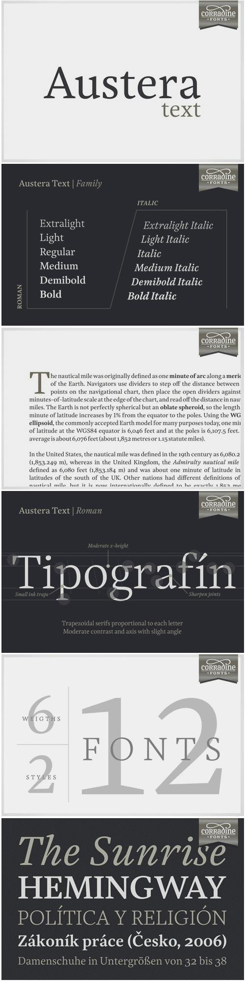 Austera Text Font Family