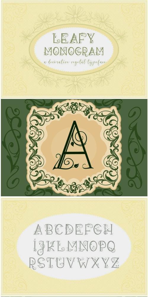 Leafy Monogram Font