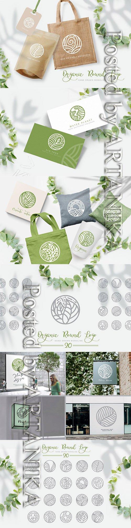 Organic Round Logo