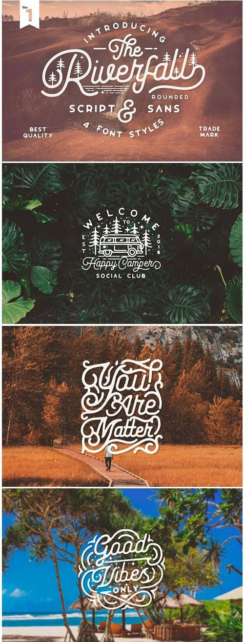 Riverfall Rounded Font