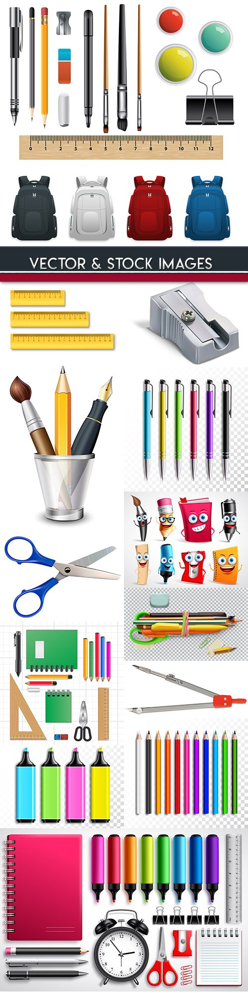Back to school and accessories collection illustrations 21