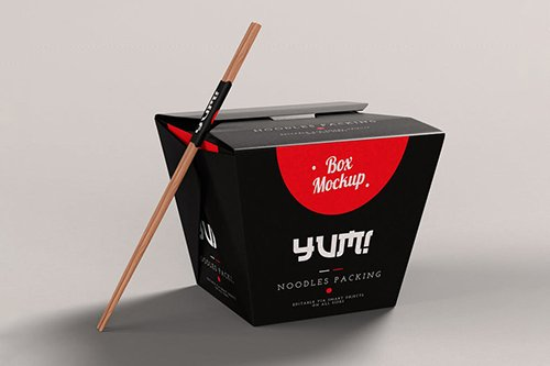 Noodles Pack Box Mock-Up
