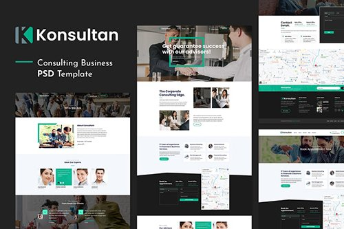 Konsultan | Consulting Business PSD Template