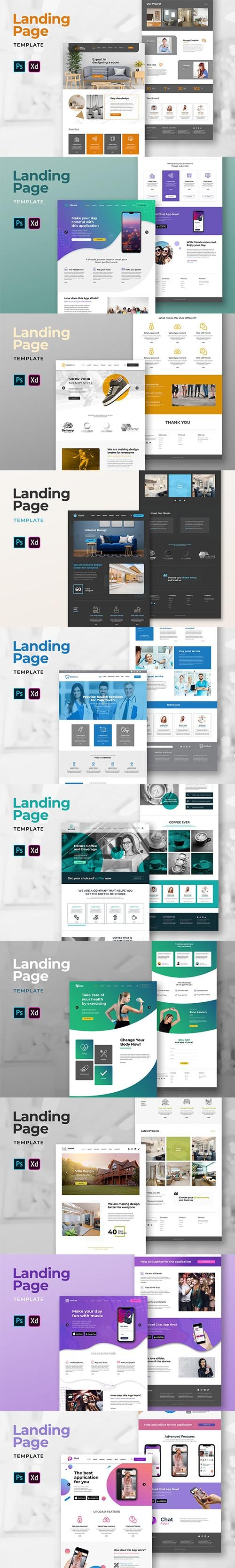 10 Landing Pages Pack