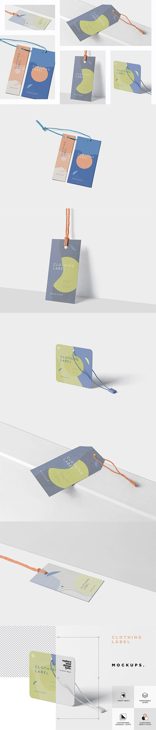 Clothing Label Mockups PSD