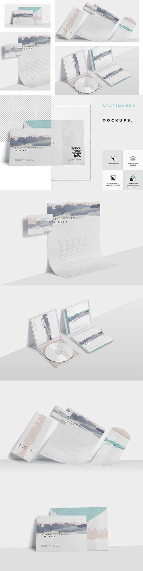 Stationery Mock Ups PSD