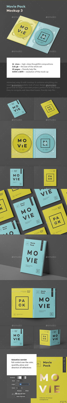 Movie Pack Mock-up 3 PSD