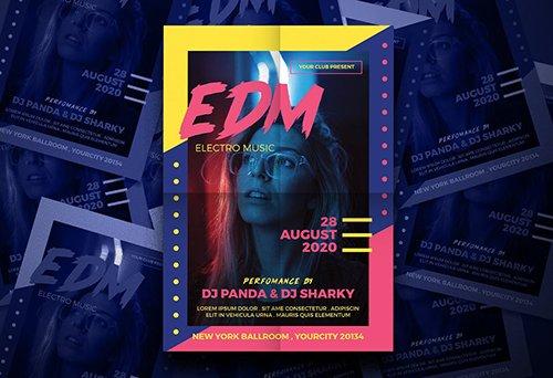 EDM Party Flyer PSD